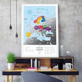 Travel Map Silver Europe