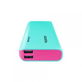 ADATA Power bank APT100-10000M-5V-CTBPK 10000 mAh, Tiffany Blue Pink