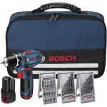 Bosch Cordless Drill GSR 12V-15 12 V, 1.5 Ah, Li-Ion, Batteries included 2 pc(s), + 39 accessories tool kit + Bag