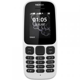 "Nokia 105 (2017) White, 1.4 "", TFT, 120 x 160 pixels, 4 MB, 0.004 GB, Dual SIM, Mini-SIM, USB version microUSB 2.0, 800 mAh"