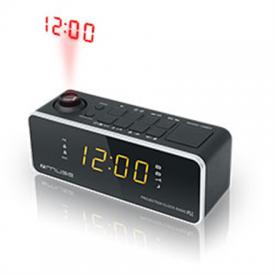 Laikrodis – Radijas Muse Clock radio M-188P Black, 0.9 inch amber LED, with dimmer